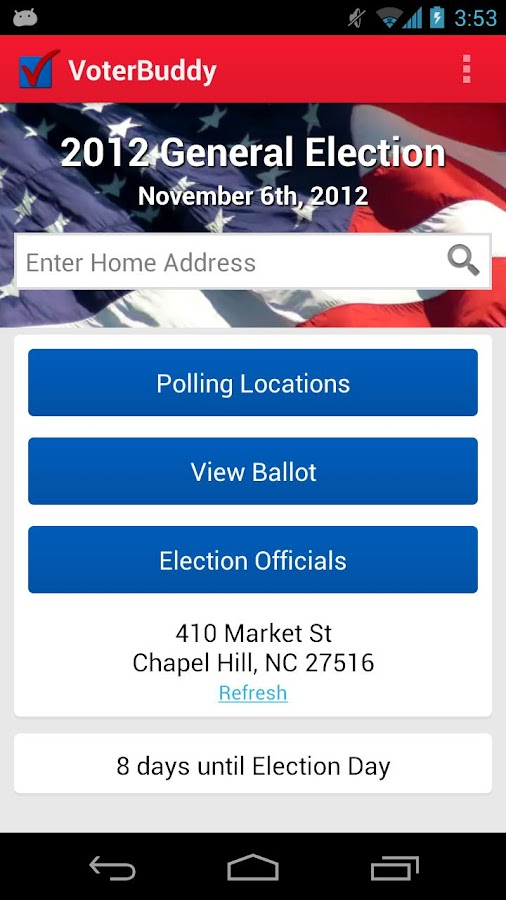 VoterBuddy - screenshot
