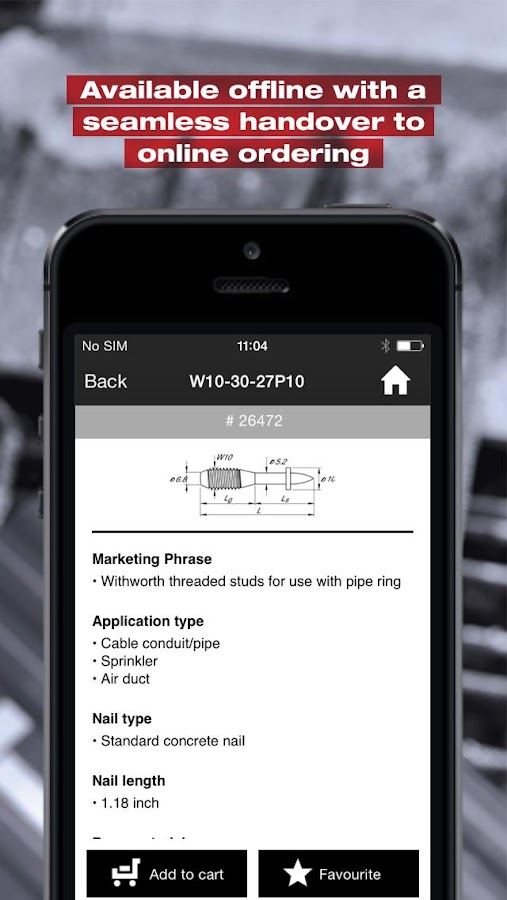 Hilti Screw & Nail Selector- screenshot