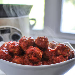 Healthy Crockpot Mini Turkey Quinoa Meatballs.