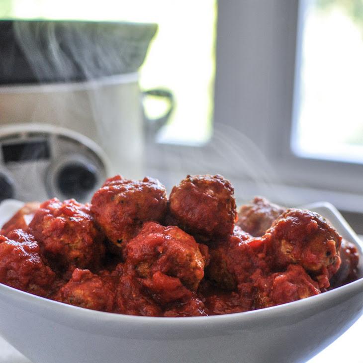 Healthy Crockpot Mini Turkey Quinoa Meatballs Recipe