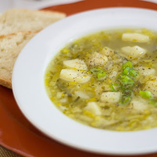 Comforting and Soothing Potato Leek Soup.