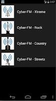 Screenshot of Cyber-FM