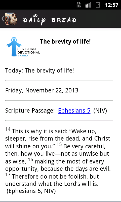 Christian Devotional Manna- screenshot