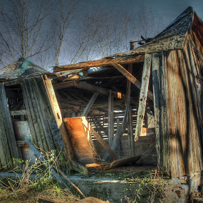 Boonton Shack by Ward Vogt - Buildings & Architecture Decaying & Abandoned ( wood, boonton, shack, brown, nj, decrepit, photography, decay, new jersey, ward vogt )