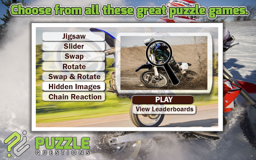 Motocross Puzzle Games