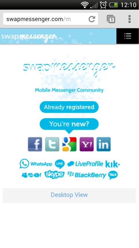 swapMessenger - screenshot
