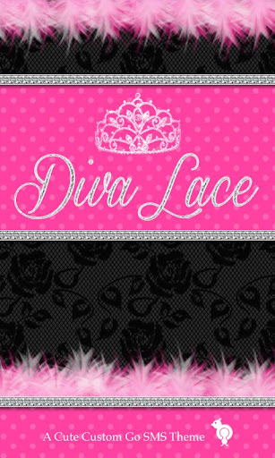 Diva Black Lace Theme GO SMS