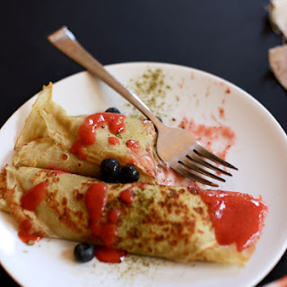 Gluten Free Green Tea Crepes