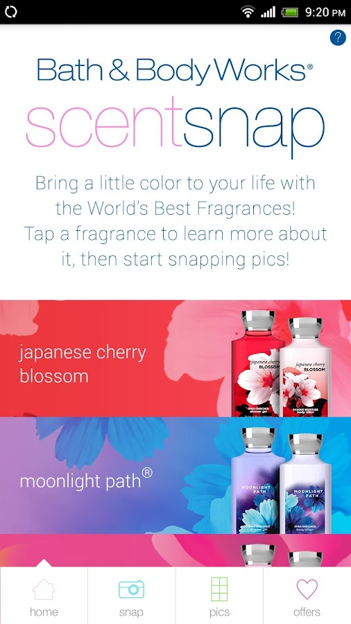 Bath & Body Works ScentSnap - screenshot