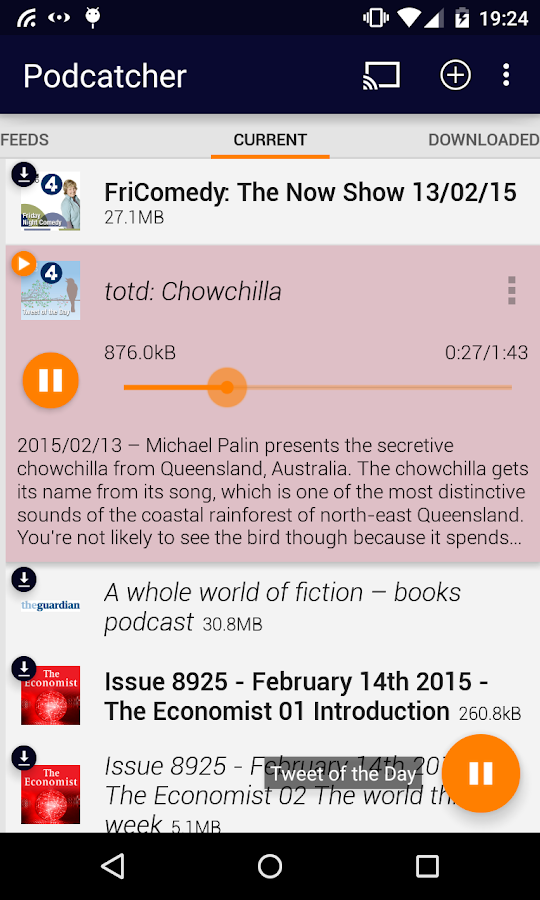 Podcatcher- screenshot