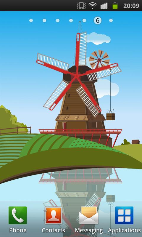 Windmill and Pond - screenshot