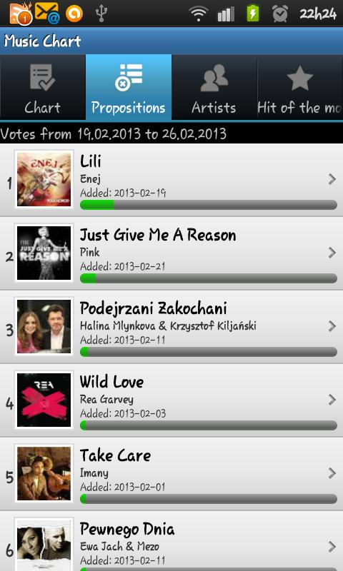 Music Chart - screenshot