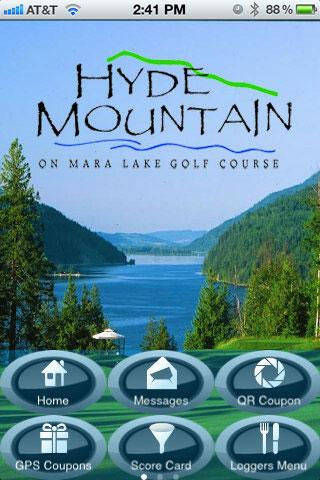 Hyde Mountain Golf App- screenshot