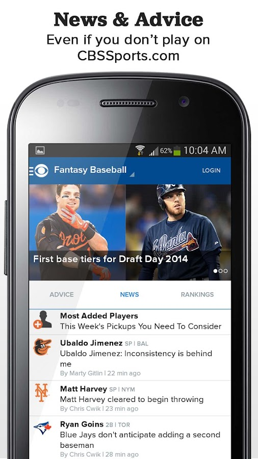 CBS Sports Fantasy - screenshot