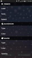 Screenshot of Snowflakes Live Wallpaper Free