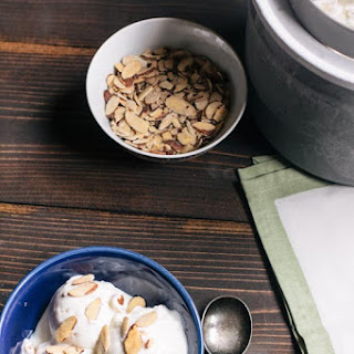 Honey Almond Frozen Yogurt.