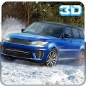 4x4 Winter snow jeep stunt ATV icon