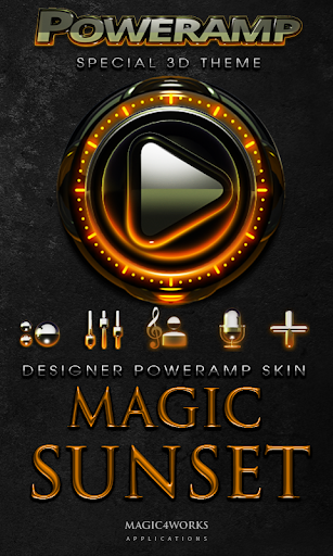 Poweramp skin Sunset