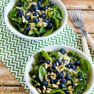Power Greens Salad with Blueberries and Almonds.
