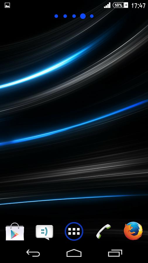 Blue Rays Theme By Arjun Arora - screenshot