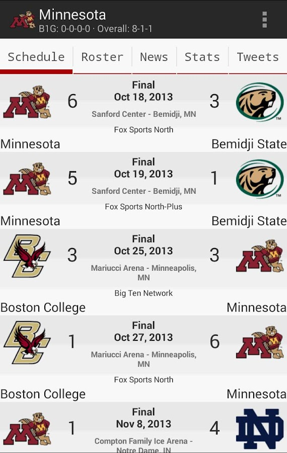 College Hockey News- screenshot