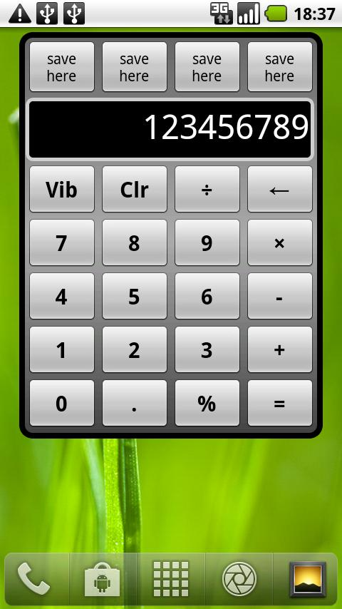 Calculator Widget (Free) - screenshot