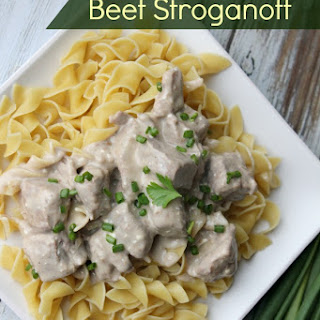 Slow Cooker Beef Stroganoff.