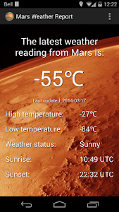 Mars Weather Report screenshot 0