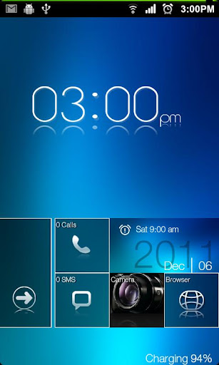 Metro UI Go Launcher EX Locker v4