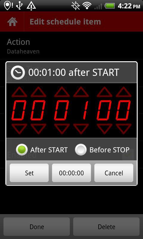 TaskBomb task scheduler - screenshot