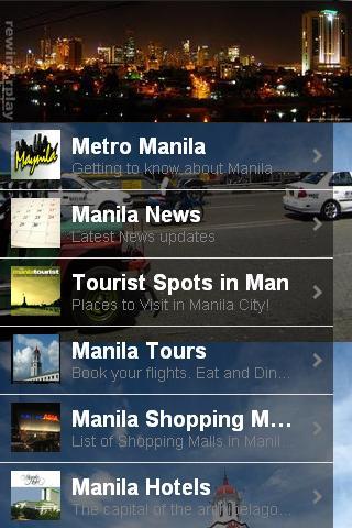Manila City App- screenshot