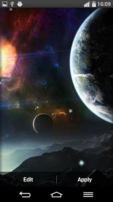 Space Planets Live Wallpaper - screenshot