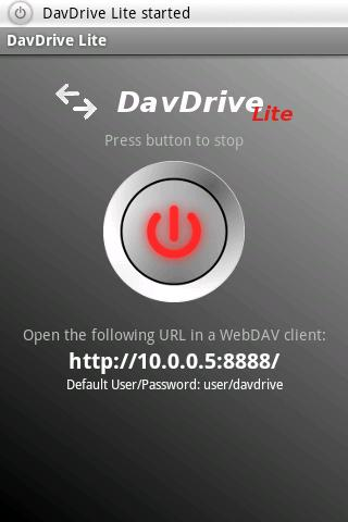 DavDrive Lite - screenshot