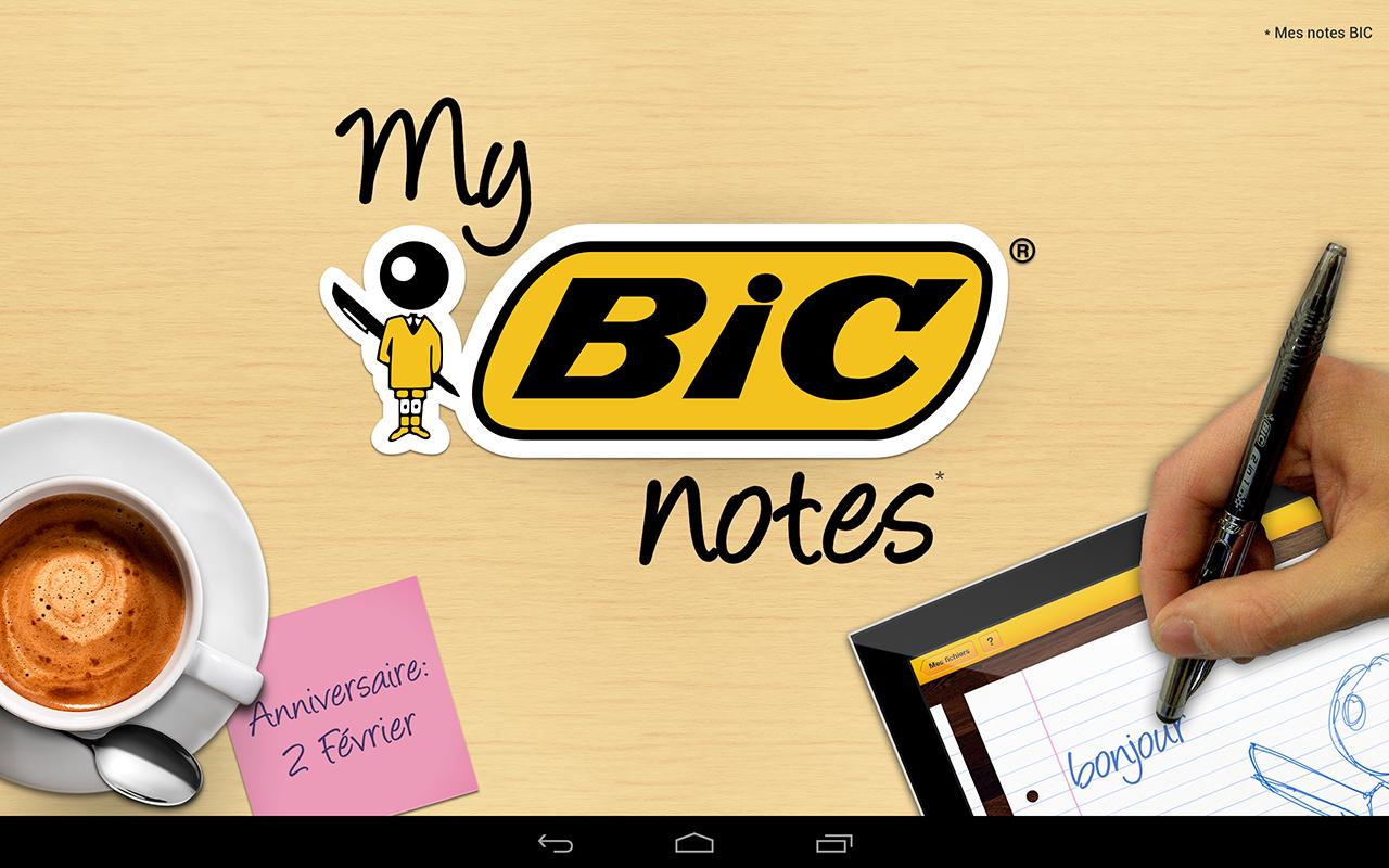 My BIC Notes – Capture d'écran