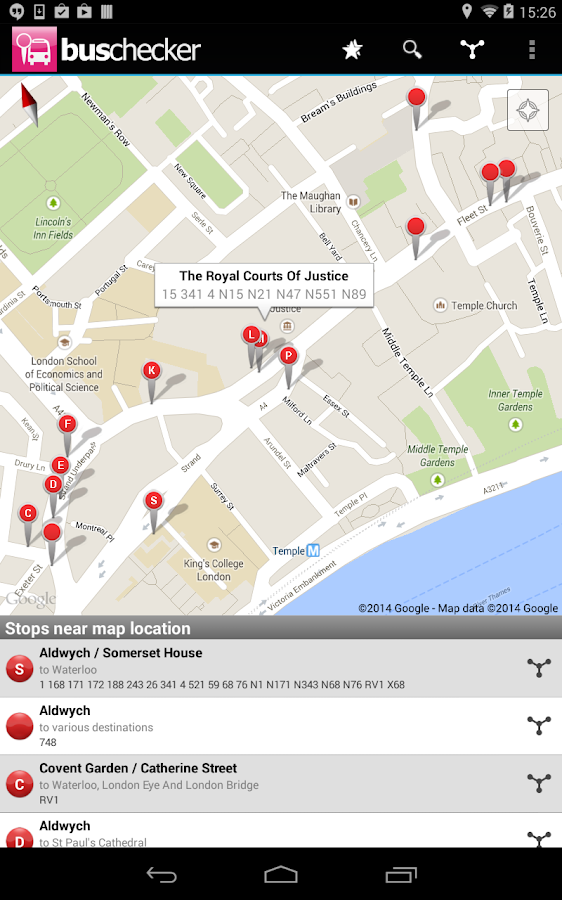 London Bus Checker Live Times - screenshot