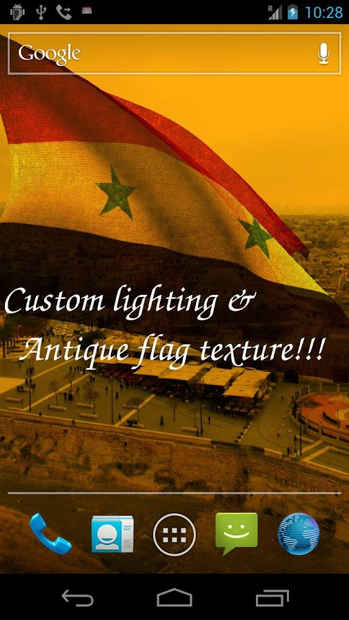 3D Syria Flag Live Wallpaper - screenshot