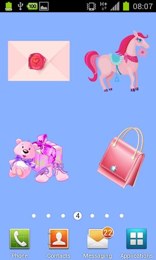 【免費個人化App】100粉紅色的貼紙-APP點子