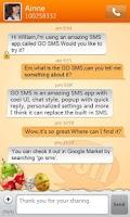 Screenshot of GO SMS Pro New Year - Orange