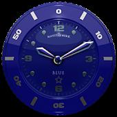 Clock Widget Blue Star