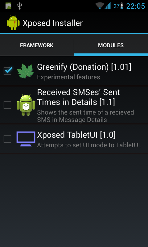 Greenify (Donation Package) - screenshot