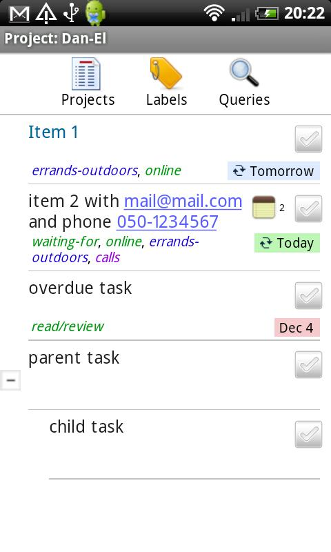 Budoist - Todoist Client- screenshot