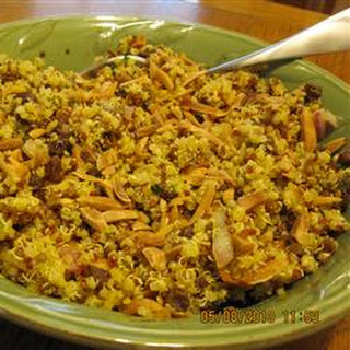 Curried Citrus Quinoa with Raisins and Toasted Almonds