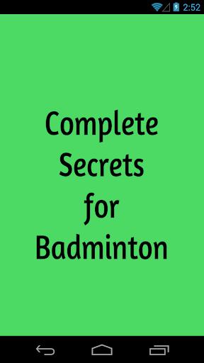 Complete Secrets for Badminton