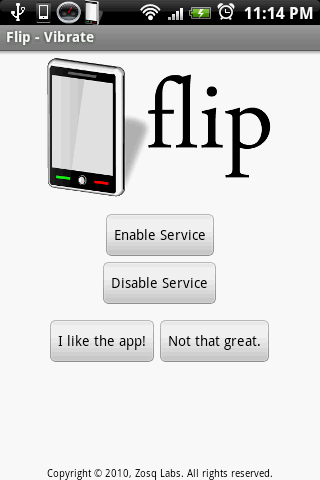 Flip - Vibrate - screenshot