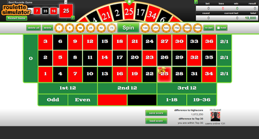Roulette Simulator Game