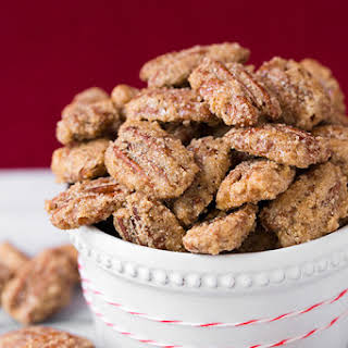 Cinnamon Sugared Pecans.