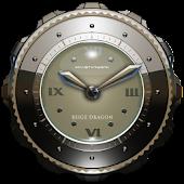 Dragon Clock widget beige