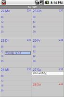 Screenshot of AlphaAgent Calendar Free