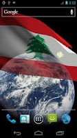 Screenshot of 3D Lebanon Flag LWP +
