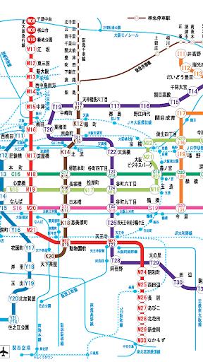 大阪地鐵路線圖